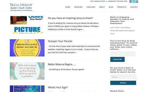 Screenshot of Blog triciamolloy.com - Working with Wisdom Blog | TriciaMolloy.com - captured Oct. 18, 2018