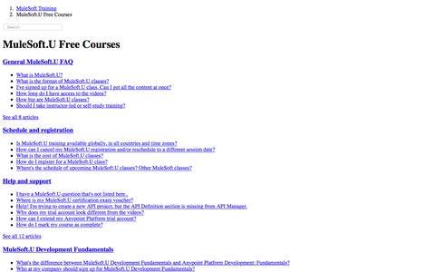 MuleSoft.U Free Courses – MuleSoft Training