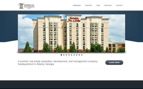 Screenshot of Home Page imperialinvestmentsgroup.com - Imperial Investments - captured Oct. 11, 2018
