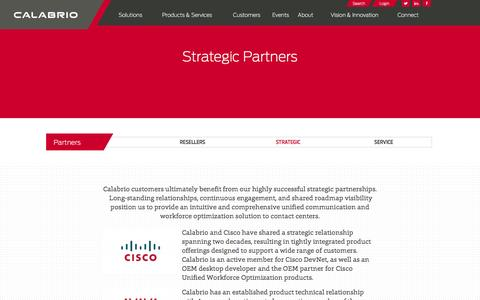 Screenshot of calabrio.com - Calabrio Strategic Partners - captured March 19, 2016