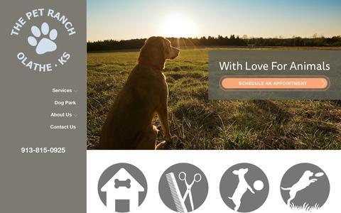 Screenshot of Home Page petranchkc.com - The Pet Ranch | Olathe Animal Hospital - captured July 14, 2017