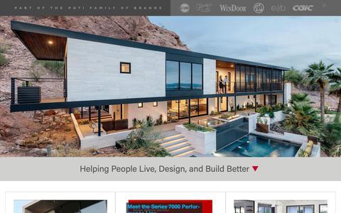 Screenshot of Home Page westernwindowsystems.com - Home Page - captured May 18, 2019