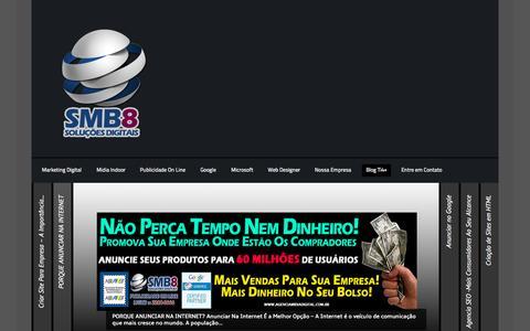 Screenshot of Blog agenciamidiadigital.com.br - Nosso Blog - SMB8 Publicidade On Line - captured Oct. 6, 2014