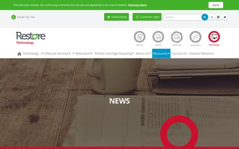 Screenshot of Press Page restore.co.uk - News - captured Oct. 18, 2018