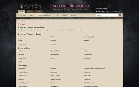 Screenshot of Site Map Page barefootbuddha.co.uk - Browse Barefoot Buddha Quickly & Easily Using Our Site Map - captured Sept. 30, 2014