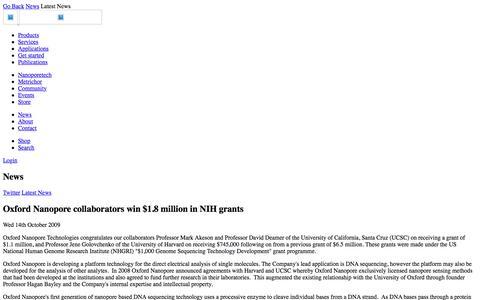 Oxford Nanopore collaborators win $1.8 million in NIH grants