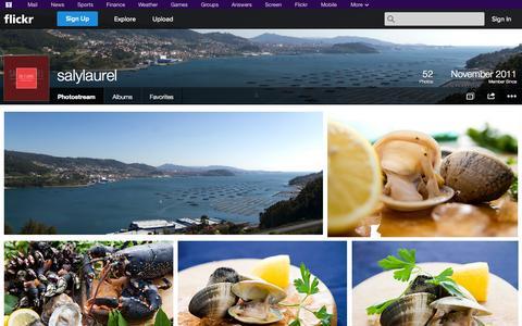 Screenshot of Flickr Page flickr.com - Flickr: salylaurel's Photostream - captured Oct. 23, 2014