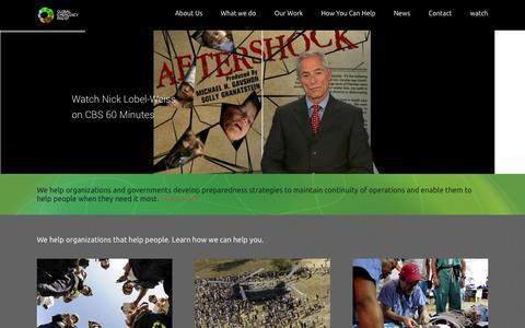 Screenshot of Home Page globaler.org - GLOBAL ER - captured Oct. 2, 2014
