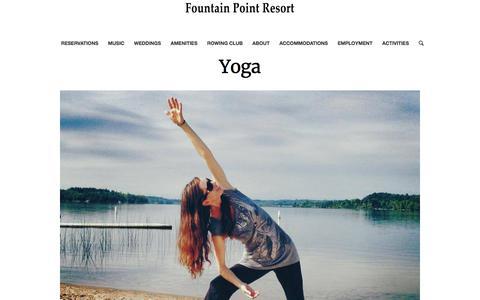 Yoga – Fountain Point Resort
