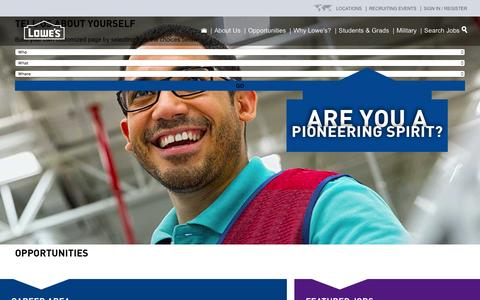 Careers at Lowe's | Search Job Opportunities Now