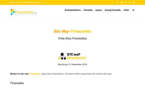 Screenshot of Site Map Page finansialku.com - Site Map Peta Situs Finansialku - captured Jan. 18, 2016