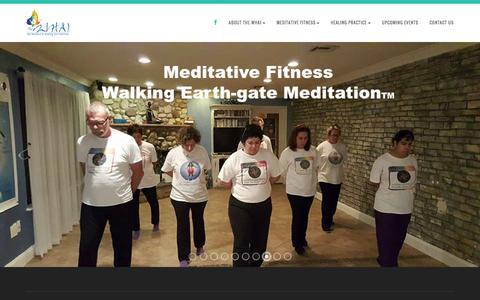 Screenshot of Home Page the-whai.com - The WHAIMeditation and Mindfulness - captured Feb. 28, 2016
