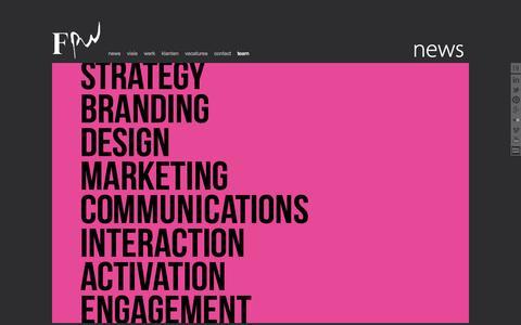 Screenshot of Team Page fpw.nl - FPW | Communicatiebureau Rotterdam | strategie, creatie, communicatie - captured Oct. 29, 2014