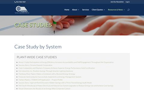 Screenshot of Case Studies Page smeng.com - Case Study - utility bill analysis - captured Oct. 1, 2018