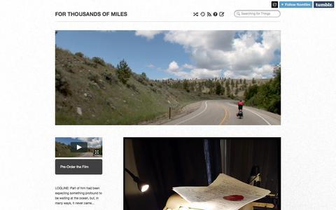 Screenshot of Blog ftomfilm.com - FOR THOUSANDS OF MILES - captured Oct. 6, 2014