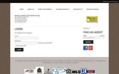 Screenshot of Login Page wrthefreedomgroup.com - User Login |  Weichert Realtors The Freedom Group - captured Nov. 29, 2016