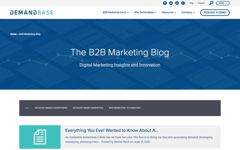 afd5b3789 Screenshot of Blog demandbase.com - B2B Marketing Blog    Demandbase B2B  Marketing -