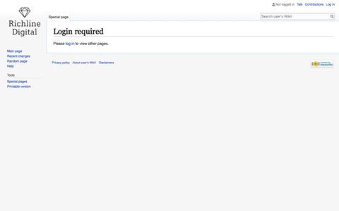Login required - user's Wiki!