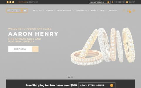 Screenshot of Home Page Privacy Page fusionartglass.com - Fusion Art Glass - captured June 6, 2017