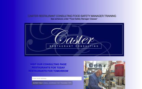 Screenshot of Home Page casterconsulting.net - Food Safety Manager Training - Caster Restaurant Consulting - captured July 17, 2017