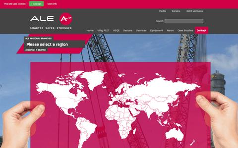 Screenshot of Contact Page ale-heavylift.com - ALE – Together, we are Smarter, Safer, Stronger - captured Oct. 8, 2014
