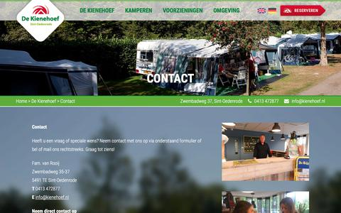 Screenshot of Contact Page kienehoef.nl - Contact - De Kienehoef - captured Sept. 26, 2018