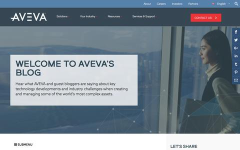 AVEVA Blog: Latest developments in technology for engineering industries
