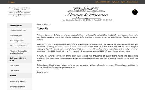 Screenshot of About Page always-forever.com - About Always & Forever | Stuart FL & St Lucie West FL - captured April 11, 2017