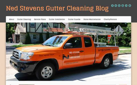 Screenshot of Blog nedstevens.com - Ned Stevens Gutter Cleaning Blog - captured Oct. 26, 2014