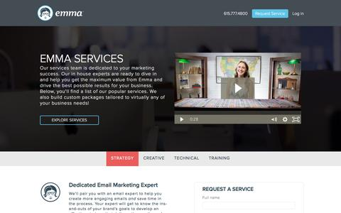 Screenshot of Services Page myemma.com - Request a Service   Emma Email Marketing - captured Jan. 4, 2017