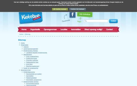 Screenshot of Site Map Page kiekeboe-kinderopvang.nl - Sitemap - Kiekeboe Kinderopvang - captured Sept. 30, 2014
