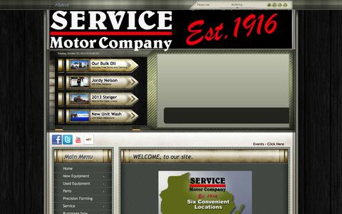 Screenshot of Home Page servicemotor.com - Welcome to Service Motor Company - captured Oct. 7, 2014