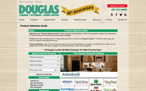 Screenshot of Products Page douglaslumber.com - Product Selection Guide - captured Nov. 24, 2016