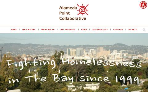 Screenshot of Home Page apcollaborative.org - Home - Alameda Point Collaborative - captured Oct. 3, 2018