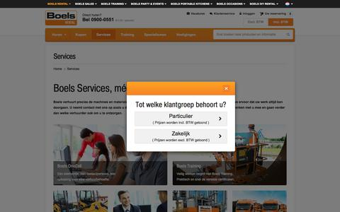 Screenshot of Services Page boels.nl - Services - captured Sept. 18, 2016