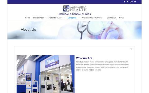 Screenshot of About Page jacknathanhealth.com - About Us - Jack Nathan Health - captured Nov. 26, 2016