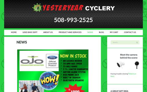 Screenshot of Press Page yesteryearcyclery.com - News - YesterYear Cyclery - captured Jan. 27, 2018