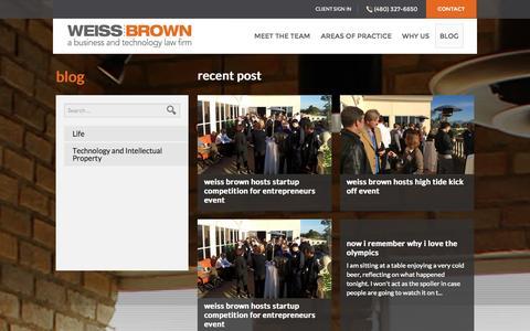 Screenshot of Blog weissbrown.com - Blog - WeissBrown - captured Oct. 26, 2014