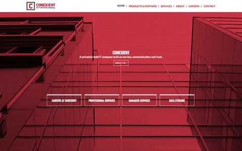 Screenshot of Home Page conexient.com - Conexient - An IT Service Company | Home - captured Sept. 30, 2014