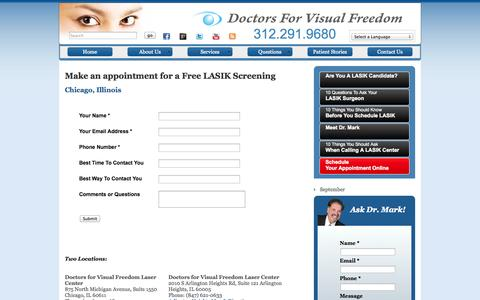 Screenshot of Contact Page doctorsforvisualfreedom.com - Doctors For Visual Freedom :: Contact Us - captured Sept. 30, 2014
