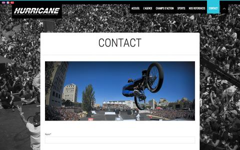 Screenshot of Contact Page hurricane-agency.com - Hurricane Agency | Contactez L'agence | Hurricane Agency - captured Feb. 2, 2016