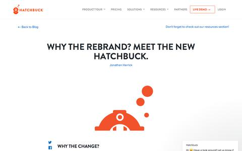 Screenshot of Blog hatchbuck.com - Hatchbuck says… - captured Sept. 26, 2018