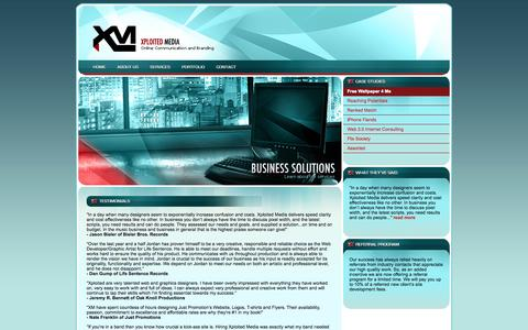 Screenshot of Testimonials Page xploitedmedia.com - Xploited Media - Portfolio - captured Oct. 27, 2014
