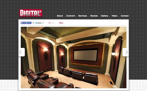 Screenshot of Home Page digital21.ca - Digital21 Audio/Video | Home Theatres | Distributed A/V | Control4 - captured Oct. 5, 2014