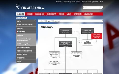 Screenshot of Team Page finmeccanica.com - Management Gruppo Finmeccanica - finmeccanica - captured Sept. 23, 2014