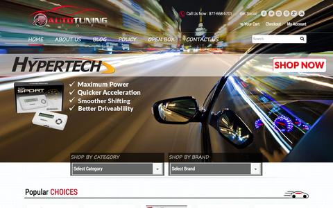 Screenshot of Home Page autotuningstore.com - Auto Tuning Store - aftermarket parts, Bully Dog GT Gas Tuner, Diablosport i2 - captured Dec. 27, 2015