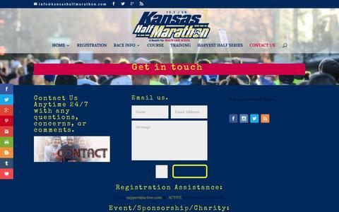 Screenshot of Contact Page kansashalfmarathon.com - CONTACT US - captured Feb. 12, 2016