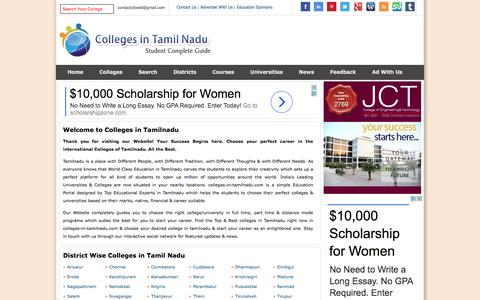 Screenshot of Home Page colleges-in-tamilnadu.com - Colleges in Tamilnadu | Best colleges in Tamilnadu - captured March 29, 2017