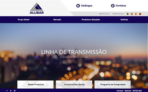 Screenshot of Home Page alubar.net.br - ALUBAR SITE - captured Oct. 8, 2017