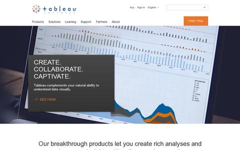 Screenshot of Products Page tableausoftware.com - Products | Tableau Software - captured July 20, 2014